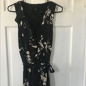 The limited Black and Tan wrap dress